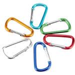 Aluminum Carabiner mbajtëse çelësash, Letër, pikturë, ngjyra të forta, ngjyra të përziera, 75x40mm, 100PC/Shumë,  Shumë