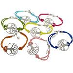 Velvet Bracelets Fashion Cord, Kurrizit Lesh, with Alloy zink, ngjyra të përziera, 34x30x2mm, 2.5mm, :7Inç, 50Fillesat/Shumë,  Shumë
