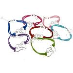 Velvet Bracelets Fashion Cord, Kurrizit Lesh, with Alloy zink, ngjyra të përziera, 35x25x2mm, 2.5mm, :7Inç, 50Fillesat/Shumë,  Shumë
