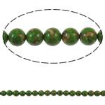 Bruz Beads, Bruz Mozaiku, Round, sintetik, asnjë, e gjelbër, 8mm, : 1mm, : 15.7Inç, 10Fillesat/Qese,  Qese