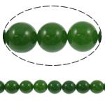 Beads Jade, Gërdallë, Round, i lyer, asnjë, 12mm, : 1mm, : 15Inç, 5Fillesat/Shumë,  Shumë