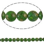 Bruz Beads, Bruz Mozaiku, Monedhë, sintetik, asnjë, e gjelbër, 8x5mm, : 1mm, :15.7Inç, 10Fillesat/Qese,  Qese