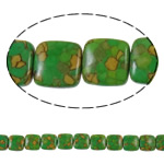 Bruz Beads, Bruz Mozaiku, Katror, sintetik, asnjë, e gjelbër, 15x7mm, : 1.5mm, :15.7Inç, 10Fillesat/Qese,  Qese