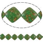 Bruz Beads, Bruz Mozaiku, Romb, sintetik, asnjë, e gjelbër, 23x23x8mm, : 1mm, :15.7Inç, 10Fillesat/Qese,  Qese