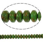 Bruz Beads, Bruz Mozaiku, Rondelle, sintetik, asnjë, e gjelbër, 12x7mm, : 1mm, : 15.7Inç, 10Fillesat/Qese,  Qese