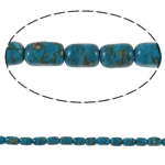 Bruz Beads, Bruz Mozaiku, Kolonë, sintetik, asnjë, blu, 5x8mm, : 0.8mm, :15.7Inç, 10Fillesat/Qese,  Qese