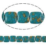 Bruz Beads, Bruz Mozaiku, Katror, sintetik, asnjë, blu, 15x6mm, : 1mm, :15.7Inç, 10Fillesat/Qese,  Qese