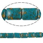Bruz Beads, Bruz Mozaiku, Drejtkëndësh, sintetik, asnjë, blu, 15x20x7mm, : 1mm, :15.7Inç, 10Fillesat/Qese,  Qese