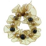 Byzylyk bizhuteri, Xham, with Pearl kulturuar ujërave të ëmbla, vetme-fillesë, 12mm, : 7.5Inç, 10Fillesat/Qese,  Qese