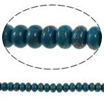 Bruz Beads, Bruz Gold venë, Rondelle, sintetik, fluoreshent & me margaritar plastik, qelibar, 6x4mm, : 1mm, : 15.7Inç, 10Fillesat/Qese,  Qese