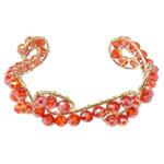 Bracelets Crystal, Kristal, with Hekur, Rondelle, ngjyrë ari praruar, faceted, Zymbyl, 6x4mm, 20mm, :6.5Inç, 20PC/Shumë,  Shumë