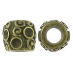 Beads Zink Alloy Vendosja, Alloy zink, Daulle, Ngjyra antike bronz i praruar, asnjë, asnjë, , nikel çojë \x26amp; kadmium falas, 11.5x9.5mm, : 5.5mm, 100PC/Qese,  Qese