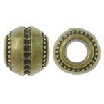 Beads Zink Alloy Vendosja, Alloy zink, Daulle, Ngjyra antike bronz i praruar, asnjë, asnjë, , nikel çojë \x26amp; kadmium falas, 12.5x10.5mm, : 5.5mm, 100PC/Qese,  Qese