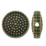 Beads aliazh zink Flat, Alloy zink, Round Flat, Ngjyra antike bronz i praruar, asnjë, asnjë, , nikel çojë \x26amp; kadmium falas, 10x4mm, : 1mm, 830PC/KG,  KG