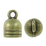 Zink Alloy Cap Fundi, Alloy zink, Shape Tjera, Ngjyra antike bronz i praruar, asnjë, asnjë, , nikel çojë \x26amp; kadmium falas, 7x11x7mm, : 2mm, 1000PC/KG,  KG