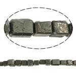 Beads bizhuteri gur i çmuar, Chalcopyrite, Drejtkëndësh, natyror, asnjë, 12mm, : 1.5mm, : 15.7Inç, 10Fillesat/Shumë,  Shumë