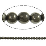Chalkopyrit Perle, rund, natürlich, 8mm, Bohrung:ca. 2mm, Länge:ca. 15.7 ZollInch, 20SträngeStrang/Menge, verkauft von Menge