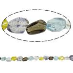Beads Crystal, Kuarc Natyrore, Nuggets, natyror, asnjë, 14x15x12mm, : 1.5mm, : 15.7Inç, 20Fillesat/Shumë,  Shumë