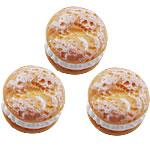 Rrëshirë Cabochon, Round Flat, asnjë, smalt, portokall, 16mm, 200PC/Qese,  Qese