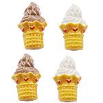 Rrëshirë Cabochon, Ice Cream, asnjë, smalt, ngjyra të përziera, 23x14mm, 200PC/Qese,  Qese