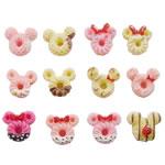Rrëshirë Cabochon, Mickey Mouse, asnjë, smalt, ngjyra të përziera, 22x24mm, 400PC/Qese,  Qese