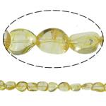 Beads kuarc bizhuteri, Lemon kuarc, Nuggets, natyror, asnjë, 8x16mm, : 1mm, : 15.7Inç, 20Fillesat/Shumë,  Shumë