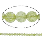 Kërcitje Beads kuarc, Jeshile kuarc, Round, natyror, 12mm, : 1.5mm, : 15.7Inç, 20Fillesat/Shumë,  Shumë