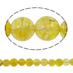 Kërcitje Beads kuarc, Lemon kuarc, Round, natyror, 14mm, : 1.5mm, : 15.7Inç, 20PC/Shumë,  Shumë