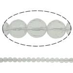 Beads kuarc bizhuteri, Kuarc qartë, Round, asnjë, 14mm, : 1.5mm, : 15.7Inç, 20Fillesat/Shumë,  Shumë
