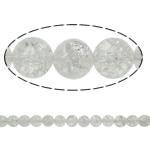 Kërcitje Beads kuarc, Kuarc qartë, Round, natyror, 6mm, : 1.5mm, : 15.7Inç, 20Fillesat/Shumë,  Shumë
