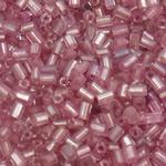 Silver Beads rreshtuar qelqi farë, Seed Glass Beads, Tub, argjend-rreshtuan, asnjë, Pink fuchsia, 2x2mm, : 1mm, 30000PC/Qese,  Qese