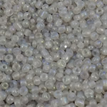 Rainbow Seed Glass Beads, Round, ylber, i tejdukshëm, qartë, 2x1.9mm, : 1mm, 30000PC/Qese,  Qese