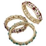Zink Alloy kyç i dorës bizhuteri, Alloy zink, Shape Tjera, ngjyrë ari praruar, smalt & me diamant i rremë, ngjyra të përziera, , nikel çojë \x26amp; kadmium falas, 74x66x16mm, : 7Inç, 5PC/Qese,  Qese