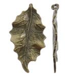 Pendants Zink Alloy Leaf, Alloy zink, Gjethe, Ngjyra antike bronz i praruar, asnjë, asnjë, , nikel çojë \x26amp; kadmium falas, 25.50x47x3mm, : 2mm, 155PC/KG,  KG