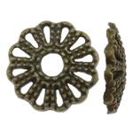 Alloy zink Bead Cap, Lule, Ngjyra antike bronz i praruar, asnjë, asnjë, , nikel çojë \x26amp; kadmium falas, 11.5x2mm, : 2.5mm, 3800PC/KG,  KG