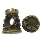 Beads Zink Alloy Vendosja, Alloy zink, Kullë, Ngjyra antike bronz i praruar, asnjë, asnjë, , nikel çojë \x26amp; kadmium falas, 9.50x13x10mm, : 5mm, 200PC/Qese,  Qese