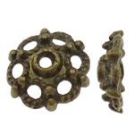 Alloy zink Bead Cap, Lule, Ngjyra antike bronz i praruar, i uritur, asnjë, , nikel çojë \x26amp; kadmium falas, 7.5x2.5mm, : 1.5mm, 2000PC/Qese,  Qese