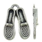 Shoes Zink Alloy Pendants, Alloy zink, Këpucët, Ngjyra antike argjendi praruar, asnjë, asnjë, , nikel çojë \x26amp; kadmium falas, 13.50x18x3mm, : 1.5x2mm, 710PC/KG,  KG