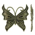 Alloy zink, Flutur, Ngjyra antike bronz i praruar, asnjë, asnjë, , nikel çojë \x26amp; kadmium falas, 41x43x3.50mm, 120PC/KG,  KG