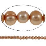 Patates Beads ujërave të ëmbla kulturuar Pearl, Pearl kulturuar ujërave të ëmbla, i lyer, rozë, Një, 8-9mm, : 1mm, : 15.3Inç,  15.3Inç,
