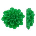 Rrëshirë Cabochon, Lule, asnjë, asnjë, e gjelbër, 18.50x18x7.50mm, 100PC/Qese,  Qese