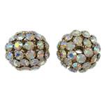 Beads bizhuteri Diamant i rremë, Tunxh, Daulle, ngjyrë ari praruar, me diamant i rremë & vrimë e madhe & i uritur, asnjë, , nikel çojë \x26amp; kadmium falas, 32x28mm, : 5mm, 2PC/Qese,  Qese