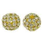Beads bizhuteri Diamant i rremë, with Tunxh, Daulle, ngjyrë ari praruar, i uritur, asnjë, 27.5x25mm, : 5.5mm, 2PC/Qese,  Qese