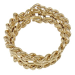 Iron Bracelets, with fold over clasp, gold color plated, nickel, lead & cadmium free, 33mm, Sold per 6.5 Inch Strand