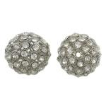 Beads bizhuteri Diamant i rremë, Tunxh, Daulle, ngjyrë platin praruar, me diamant i rremë & i uritur, asnjë, , nikel çojë \x26amp; kadmium falas, 28x26mm, : 3mm, 2PC/Qese,  Qese