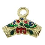 Beads Beil tunxh, Shape Tjera, ngjyrë ari praruar, smalt, asnjë, , nikel çojë \x26amp; kadmium falas, 19.50x17x6mm, : 2.8mm, 3.5mm, 150PC/Shumë,  Shumë