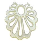 White Shell Cabochon, Flower, 23x27x1mm, Hole:Approx 4x5.7MM, Sold by PC