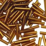 Transparent Glass Beads Seed, Seed Glass Beads, Tub, asnjë, i tejdukshëm, i verdhë, 1.5x9mm, : 1mm, 8000PC/Qese,  Qese