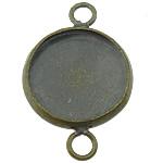 Connector tunxh Setting, Round Flat, Ngjyra antike bronz i praruar, asnjë, asnjë, , nikel çojë \x26amp; kadmium falas, 14x22mm, : 3mm, : 12mm, 300PC/Shumë,  Shumë