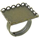 Bezel Brass Ring Base, Tunxh, Shape Tjera, Ngjyra antike bronz i praruar, asnjë, asnjë, , nikel çojë \x26amp; kadmium falas, 21x21mm, : 20mm, :6.5, 200PC/Shumë,  Shumë